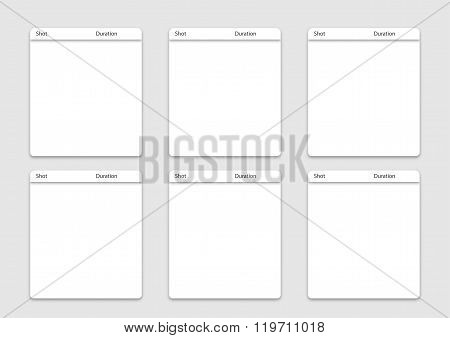 6 Square Frame Artist Storyboard Template