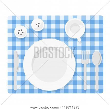 Empty tableware set