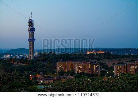 Telkom tower in Pretoria from Fort Klapperkop