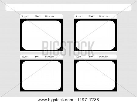 Traditional Television 4 Frame Storyboard Template