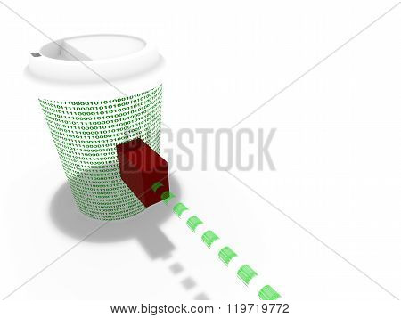 Coffee Cup Connected To The Internet