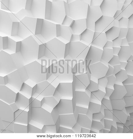 Geometric color abstract polygons extruded cells wallpaper, as crack wall