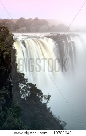 Victoria Falls and the Zambezi River, Zimbabwe.