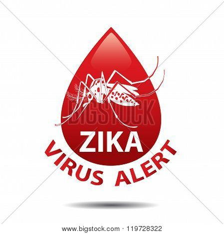 Isolated Mosquito Editable Under The Red Circle. Zika Virus. Baby Zika Virus. Outbreak Alert Concept. Against Virus From A.Aegypti Mosquito. Zika Virus Warning Sign. Mosquito Vector Set. Dengue Fever.