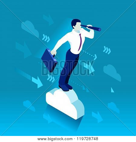 Business Graph 03 People Isometric