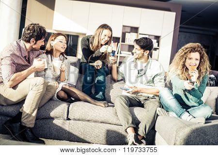 People Having Fun At Home