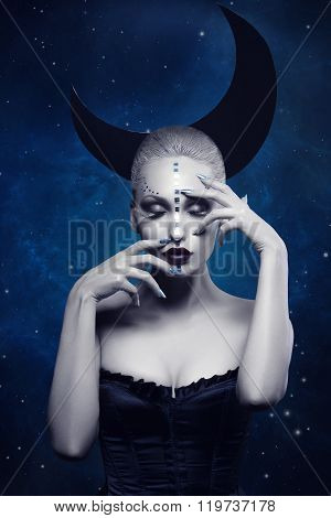 Beautiful moon girl