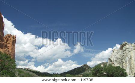 Rocks Framing Sky