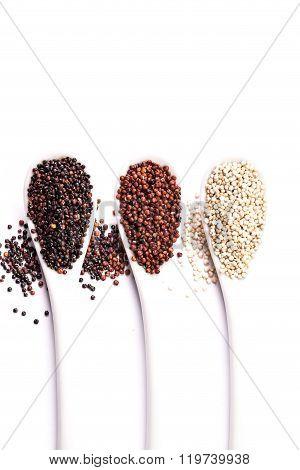 Heap Of Quinoa ,healthy Vegan Food Concept