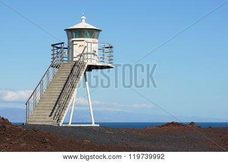 Lighthouse On Heimaey Island, Iceland