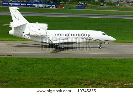 Airfix Aviation Airline Dassault Falcon 7X Aircraft In Pulkovo International Airport In Saint-peters