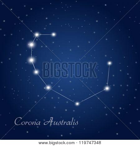 Corona Australis constelation