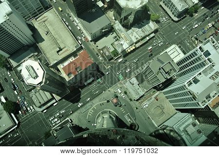 220 metres above a busy Auckland intersection