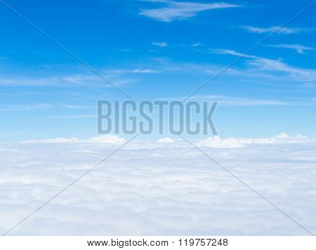 Blue Sky And White Clouds, Sunny Day, Cumulus Cloud.