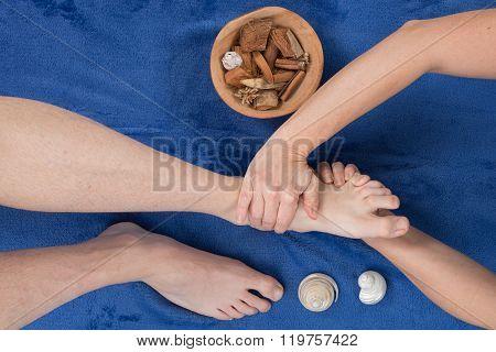 Reflexology Foot Massage, Spa Foot Treatment Shiatsu Massage