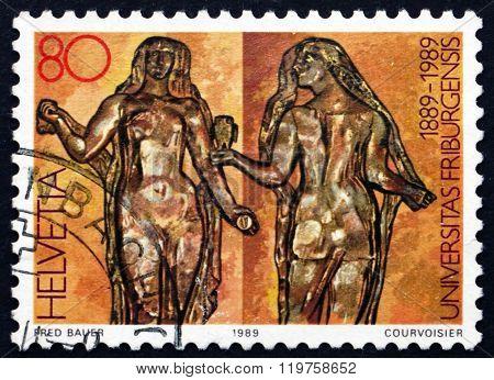Postage Stamp Switzerland 1989 Wisdom And Science