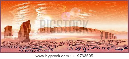 Martian Wind Storms