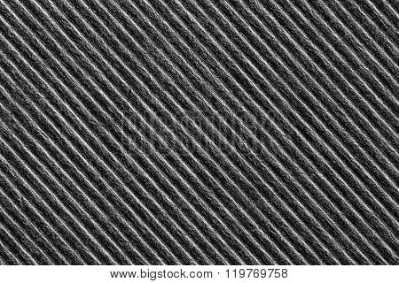 Black Color Corrugated Paper Texture