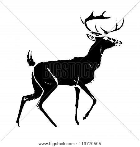 Deer Black Silhouette