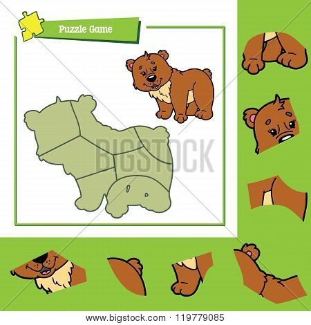 Puzzle game bear