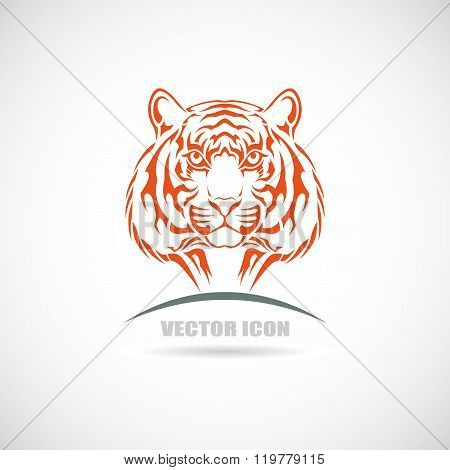 Label with tiger