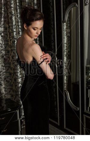 Elegant Woman And Mirror