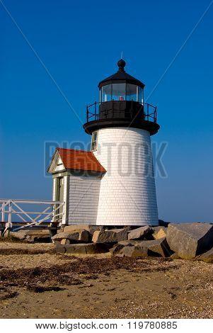 Brant Point Lighthouse On Nantucket Island, New England