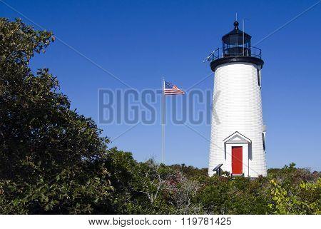 Cape Poge Lighthouse On Martha's Vineyard