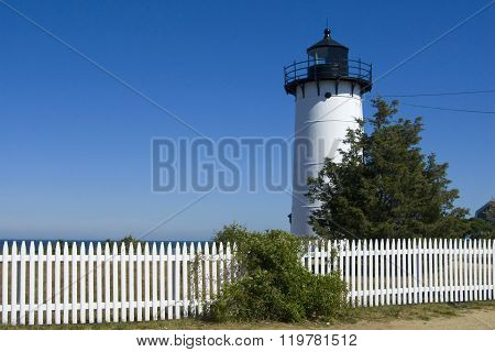 Picket Fence By East Chop Lighthouse