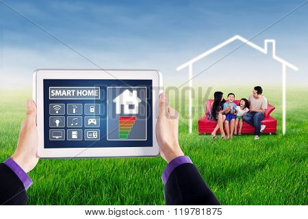 Digital Tablet To Control Smart Home