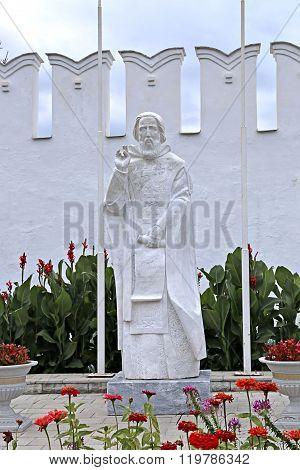 Monument To St. Sergius Of Radonezh In Raifa Monastery Near The Kazan In Russia