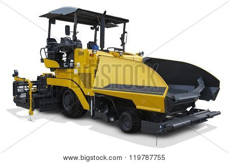 Yellow Asphalt Spreader Machine