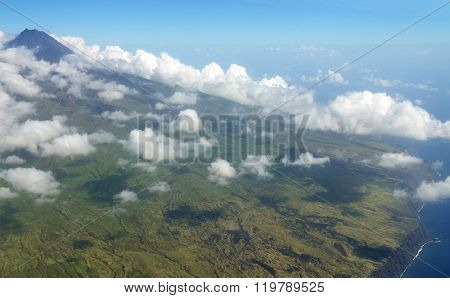 Clouds Over Volcanic Island