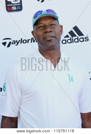 Dennis Haysbert arrives at the inaugural Stephen Bishop celebrity golf invitational benefiting R.A.K.E. on Feb. 15, 2016 at Calabasas Country Club in Calabasas, CA.