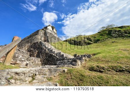 Xunantunich Archaeological Site Of Mayan Civilization In Western Belize