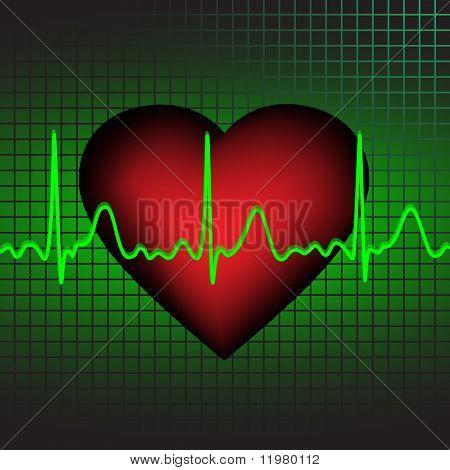 Heartbeat, vector illustration, eps10