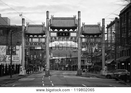 VANCOUVER-CANADA, 8 february 2016: Chinatown in Vancouver, is Canada's largest Chinatown and remain a popular tourist attraction. It's one of the largest historic Chinatowns in North America.