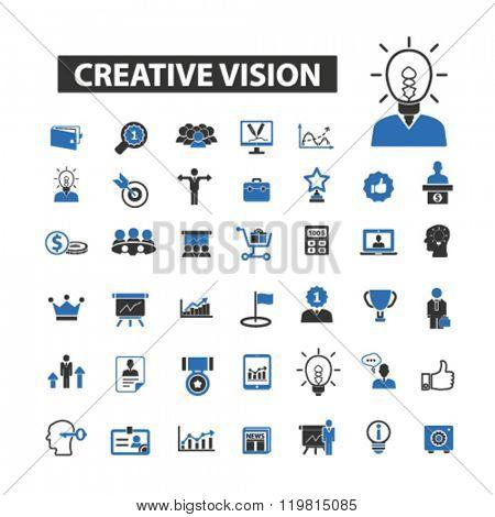 creative vision icons, creative vision logo, creative vision vector, creative vision flat illustration concept, creative vision infographics, creative vision symbols,