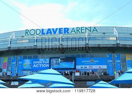 Rod Laver arena at Australian tennis center in Melbourne Park