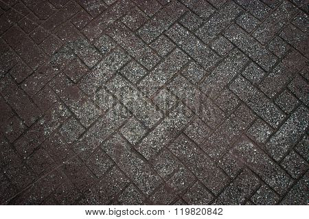 Background Texture Of Gray Tiled Pavement City Ground.
