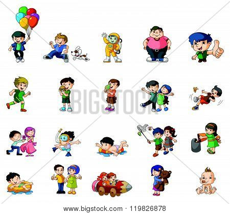 Kids Activity vector illustration design eps 10