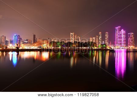 Sharjah Buhaira Corniche with Noor Island,Sharjah, UAE