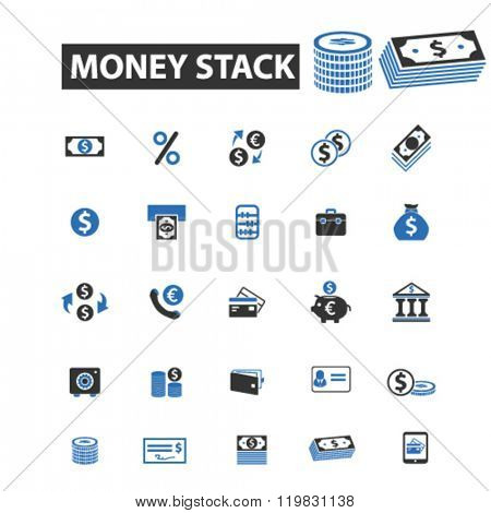 money stack icons, money stack logo, money stack vector, money stack flat illustration concept, money stack infographics, money stack symbols,
