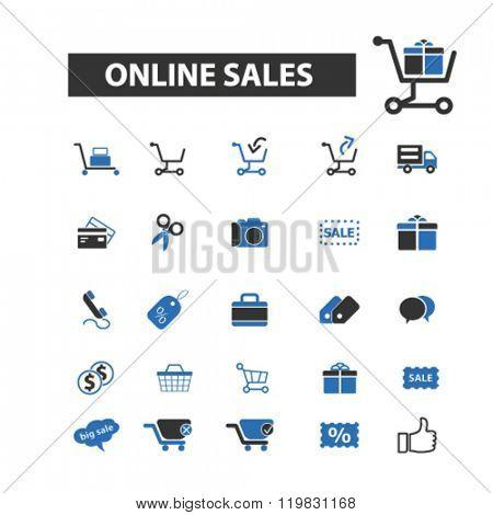 online sales icons, online sales logo, online sales vector, online sales flat illustration concept, online sales infographics, online sales symbols,