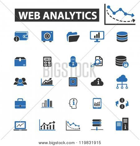 web analytics icons, web analytics logo, web analytics vector, web analytics flat illustration concept, web analytics infographics, web analytics symbols,
