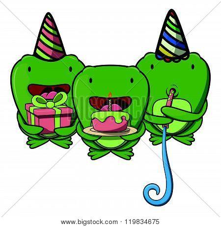 Frog party .eps10 editable vector illustration design