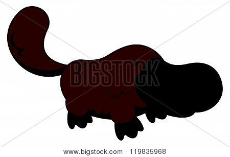Platypus cartoon illustration isolated white