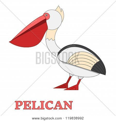 Pelican Flat Linear Icon