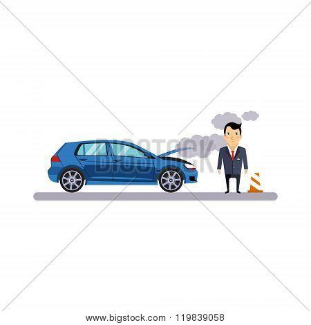 Car and Transportation Fritz. Vector Illustration