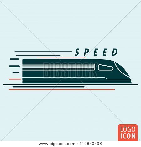 Train icon isolated